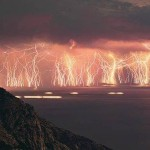 A place in Venezuela where lightning strikes 140 to 160 nights per year