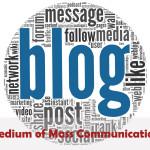 Blog as a Medium Of Mass Communication