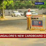 Cardboard Cops Control Traffic In Bangalore