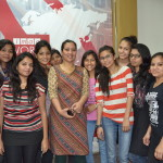 Media Center IMAC students with Radio City RJ Divya