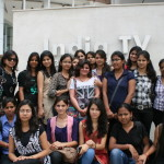 Student visit to India TV