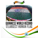 India set a new world record for the largest human flag